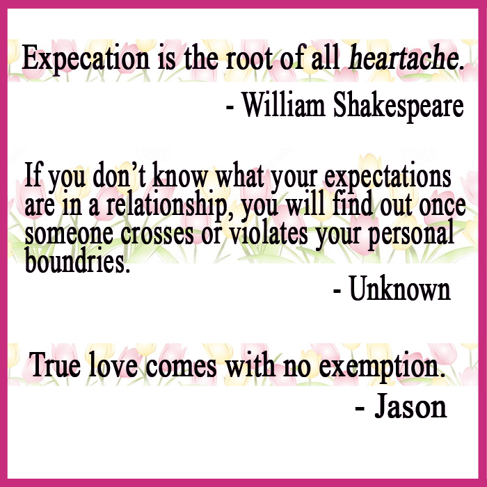 Expectations too high relationships